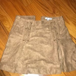 She + Sky brown suede skirt size medium